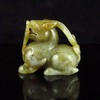 Hand-carved Chinese Natural Hetian Jade Statue - Pi Xiu