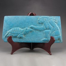 Hand-carved Chinese Natural Turquoise Statue Turtles