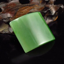 Hand-carved Chinese Natural Green Hetian Jade Pendant