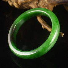 Inside Diameter 57mm Chinese Natural Green Hetian Jade Bracelet