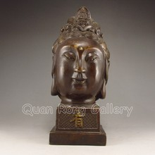 Chinese Bronze Statue - Kwan-yin Head