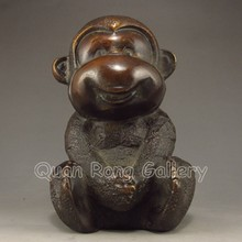 Vivid Lovely Chinese Bronze Statue - Monkey w Mark
