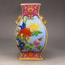 Hand-painted Chinese Gold-plating Enamels Porcelain Vase w Yong Zheng Mark