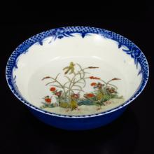Superb Hand-painted Chinese Famille Rose Porcelain Bowl w Guangxu Mark