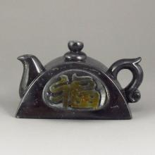 Hand Carved Chinese Natural Hetian Jade Teapot
