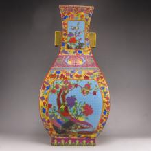 Superb Hand-painted Chinese Enamels Porcelain Vase w Yong Zheng Mark