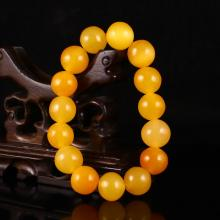 Beautiful Color Hand Carved Indonesia Natural Jin Tian Huang Bracelet