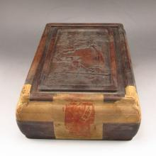 Superb Collection Vintage Chinese Hard Wood Tea Caddie