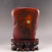 Superb Chinese Natural Hetian Jade Original Stone / Gamble Statue