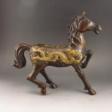Chinese Bronze Carved Statue - Horse