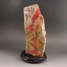 Superb Hand-carved Chinese Natural Bloodstone Stone Statue - Plum Flowers