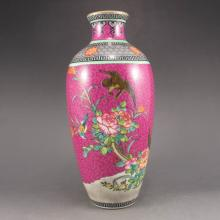Hand-painted Chinese Gold-plating Pahua Famille Rose Porcelain Vase w Yong Zheng Mark