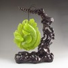 Beautiful Color Hand-carved Chinese Natural Jade Statue - Lucky Fishs