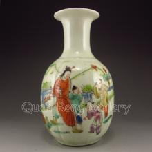 Hand-painted Chinese Famille Rose Porcelain Vase w Urchins & Tong Zhi Mark