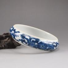 Hand-painted Chinese Blue And White Porcelain Bracelet