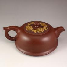 Handmade Chinese Zisha / Purple Clay Teapot w Artist Signed