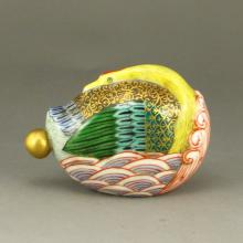 Hand-painted Chinese Enamels Porcelain Snuff Bottle w Qianlong Mark