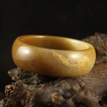 Inside Diameter 56mm Chinese Natural Hetian Jade Bracelet