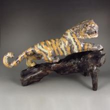 Superb Chinese Natural Shoushan Stone Tiger Statue