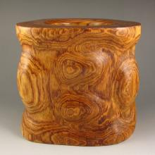 Beautiful Design Chinese Natural Huali Wood Brush Pot