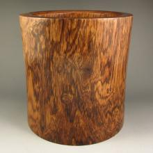 Superb Chinese Natural Hainan Huang Hua Li Wood Brush Pot