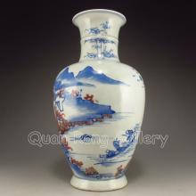 Chinese Qing Dynasty Dou Cai Porcelain Vase