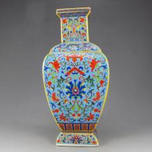 Hand-painted Chinese Gilt Enamels Porcelain Vase w Yong Zheng Mark