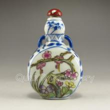Hand-painted Chinese Famille Rose Porcelain Snuff Bottle