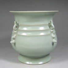 Vintage Chinese Song Dynasty Ru Kiln Porcelain Pot