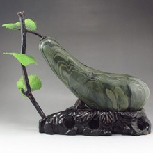Beautiful Design Chinese Natural Watermelon Stone Statue