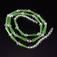 Charming Hand-carved Chinese Natural Green Hetian Jade Necklace