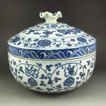Hand-painted Chinese Blue And White Porcelain Pot