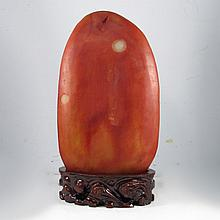 Huge Chinese Natural Hetian Jade Original Stone / Gamble Stone