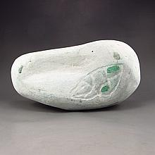 Natural Superb Jadeite / Jade Original Stone Statue / Gamble Stone