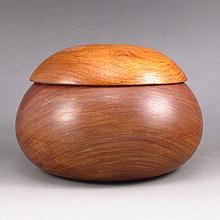Hand Carved Chinese Natural Huang Hua Li Wood Tea Leaf Pot