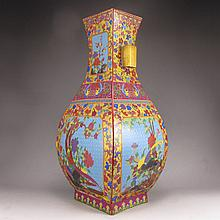 Superb Hand-painted Chinese Colour Enamels Porcelain Vase w Yong Zheng Mark