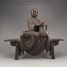 Superb Chinese Bronze Statue - Buddhism Buddha