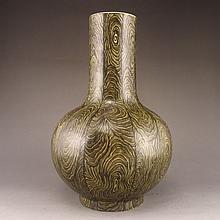 Hand-painted Chinese Tea Powder Glaze Porcelain Vase