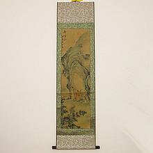 Beautiful Chinese Hand Scenery Figure Painting - Poet