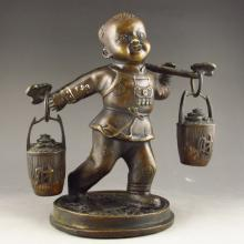 Chinese Bronze Statue - Fortune Boy