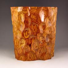 Superb Design Chinese Natural Hua Li Wood Brush Pot