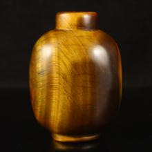 Chinese Natural Tiger Eye Stone Snuff Bottle