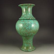 Chinese Turquoise Glaze Porcelain Vase w Marked