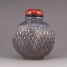 Hand Carved Chinese Natural Agate  Snuff Bottle