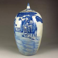 Chinese Vintage Tea & Blue And White Porcelain Pot