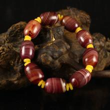 Beautiful Color Chinese Natural Agate Beads Bracelet