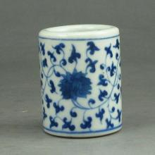 Hand-painted Chinese Blue And White Porcelain Fingerstall