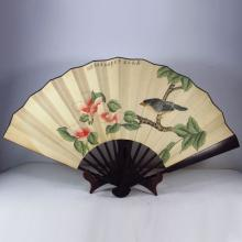 Chinese Handmade Painting Fan w Magpie & Plum Flower