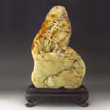 Big Hand-carved Chinese Natural Shoushan Stone Statue - Sages Meeting