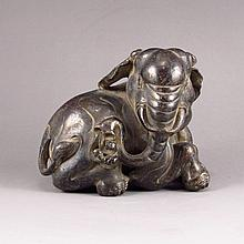 Chinese Antique Old Bronze Statue -  Lucky Elephant